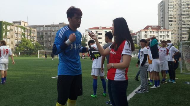 东华大学足球队超级组客场险胜同济大学队